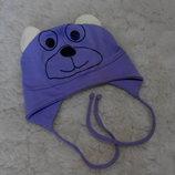 Тоненькая шапочка Arctic на завязках для девочки 12-18 месяцев
