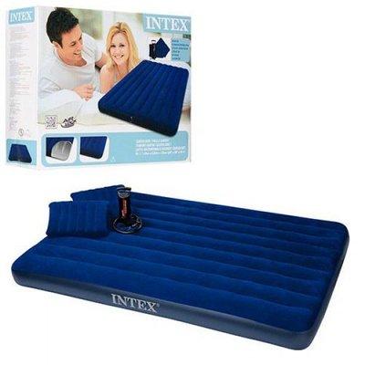 Intex 68765 Двухспальный матрас с подушками и насосом