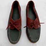 Туфли топсайдеры крутые мужские новые Cotton Traders р.8 41 натур кожа