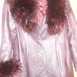 Продам кожаное женское пальто с подкладкой