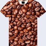 Оригинальная 3D футболка Зерна кофе