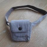 сумка девочке детская на пояс фиолетовая кнопка billaabong