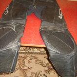 байкерские штаны кожа