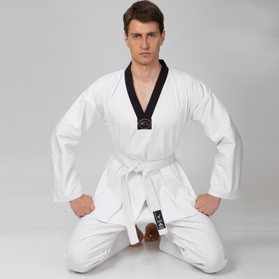 Добок кимоно для тхэквондо Matsa 0018, хлопок 150-190см, плотность 240