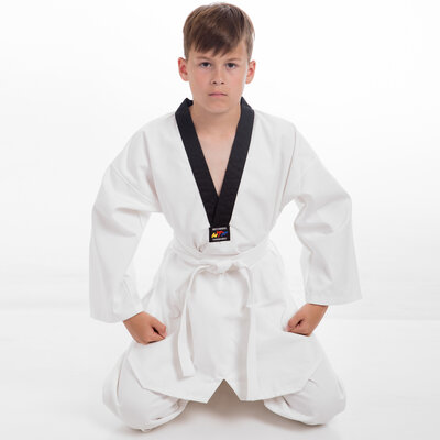 Добок кимоно для тхэквондо WTF 5473, хлопок полиэстер 110-164см, плотность 240