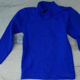 Хлопковый детский гольф гольфик водолазка джемпер синий черный