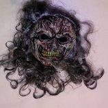 Карнавальная новогодняя маска с париком
