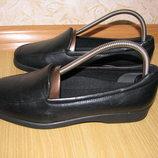 Clarks кожа туфли мокасины 39р по вст 25.5 см низкий подьем