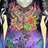 Яркий лонгслив футболка от бренда Love amour Оригинал USA