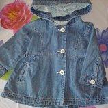 Джинсовое пальтишко на девочку р.86 92
