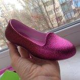 детские балетки крокс для девочки детские туфли крокс Kids Crocs Eve Sparkle Flat размер с8
