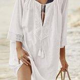 Пляжное платье. туника хлопок