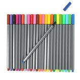Линеры цветные набор 24шт лайнеры лінери кольорові чорные дизайн графика рисование тату канцтовары