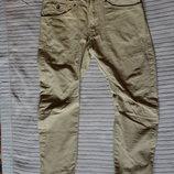 Современные фирменные х/б джинсы цвета охры с низкой слонкой Denim Сo Англия 30/30.