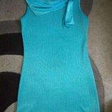 Очень стильное брендовое Бирюзовое платье