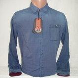 Мужская джинсовая рубашка с длинным рукавом YChromosome. Разные цвета.