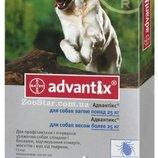 Адвантикс® для собак вес более 25 кг 1 пипетка капли на холку от блох, клещей и комаров