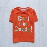 Яркая футболка для мальчика. TU. Размер 1.5-2 года. Состояние новой вещи