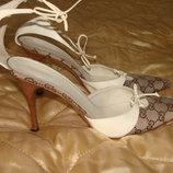 туфли босоножки Gucci оригинал Италия винтаж 40р 26 см идеал