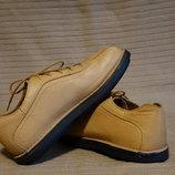 Мощные кожаные полуботинки светло-карамельного цвета Tride Англия. 44