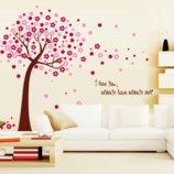 Интерьерная наклейка Цветочное дерево , 2 цвета