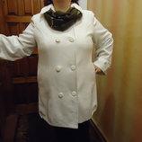 Стильное Пальто большого размера 64-66р Айвори