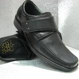 Туфли кожаные чёрные на мальчика 34р.35р.37,5р.