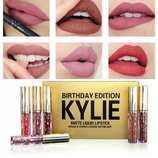 Набор матовых жидких губных помад Kylie Birthday Edition 6шт