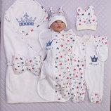 Набор для новорожденного на выписку из роддома Мой Принц - 5 предметов