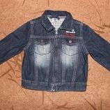 Джинсовая куртка Chicco 92 размер новая на 2-3 года. Джинсовый пиджак.