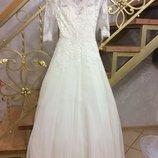 Весільня сукня , айворі XS