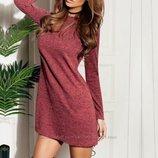 Хит Классическое платье-трапеция с лёгкой ангоры Ангора Soft 3 цвета