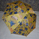 Зонтик зонт детский с яркими героями яркий и весёлый тканевый Миньон Minion Миньоны
