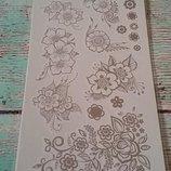 Флеш-Татуировки / flash tattoo тон металлические цветы faberlic