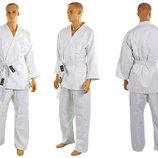 Кимоно для дзюдо белое Matsa 0013, хлопок 120-200см