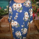E-vie новое цветастое платье р 18,размер 50-52