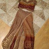 Kостюм в индийском стиле, комплект восточный - юбка и топ