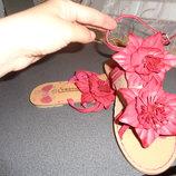 босоножки с цветами
