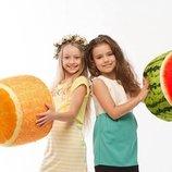 Мягкий надувной пуфик Fruit Pouf Арбуз, Апельсин от Danko Toys