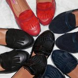 Туфли лоферы натуральная кожа/замша размеры 36-41