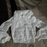 Ветровка куртка роскошная ажурный капюшон Италия Ermanno Scervino