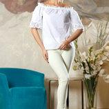 Летняя белая блуза 722
