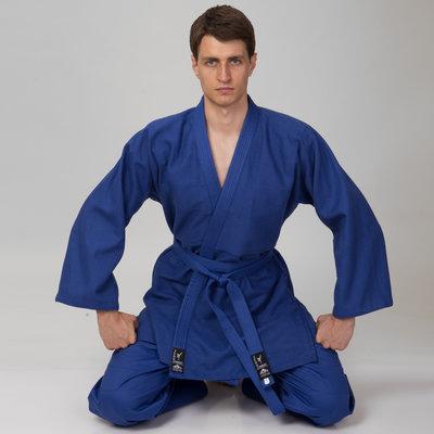 Кимоно для дзюдо синее Мatsa 0015, хлопок размер 120-190см, плотность 450