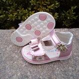 Босоножки для девочки Jong Golf размер 21-13,5 см розовые