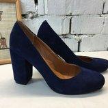 Туфли лодочки натуральная замша с обтянутым замшем каблуком каблук 4, 6, 8,9 см