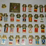 коллекция футбольных значков матчи бронза 34 штуки