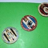 коллекция футбольных значков матчи бронза кубок Уефа 3 штуки