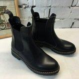 Ботинки челси натуральная кожа/замша/лак размеры 35-41