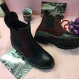 Ботинки челси натуральная кожа/замша/лак р.35-41