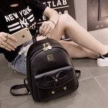 Городской нежный рюкзак с милым бантиком В Наличии